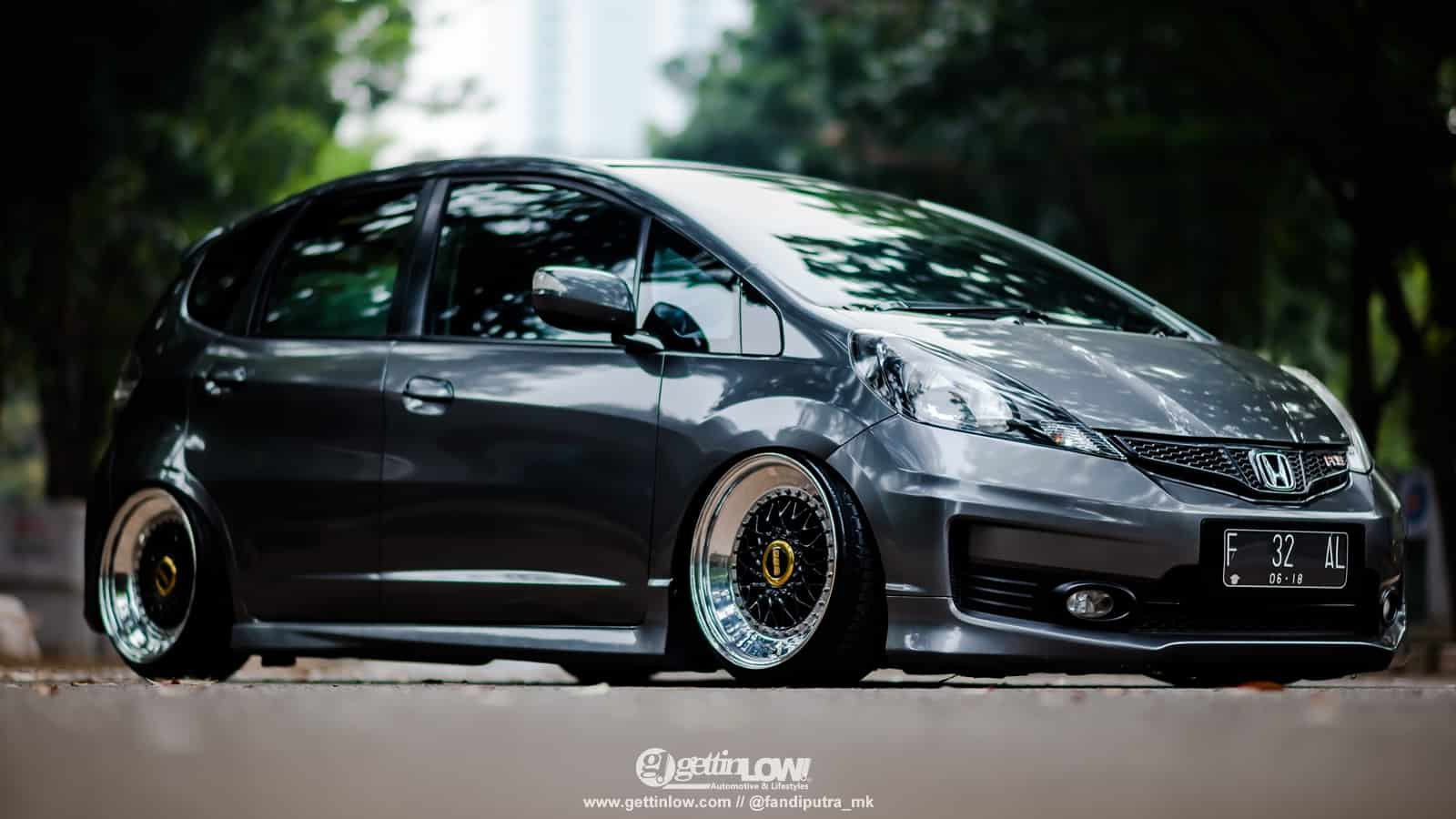 Rahin Chandra: 2013 Bagged Honda Jazz with BBS RS Slanted Lips