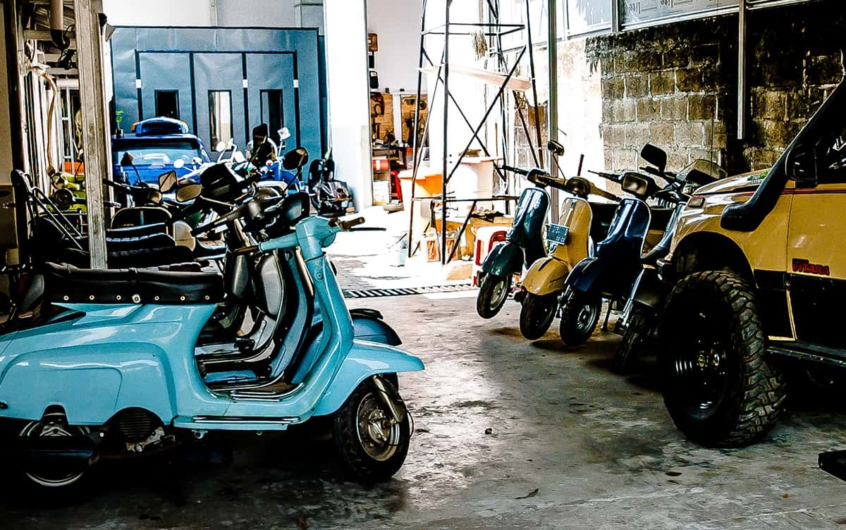 Eliazar Scooter Work, bengkel restorasi skuter yang all services