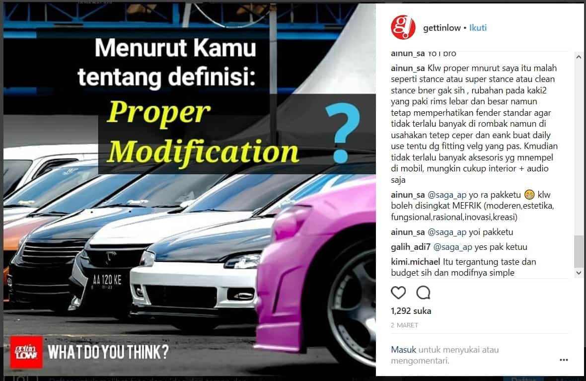 WHAT DO YOU THINK: Definisi Proper Menurut Followers Instagram @gettinlow