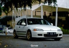 Rio Christian: 1993 Honda Civic Estilo on Advan RG