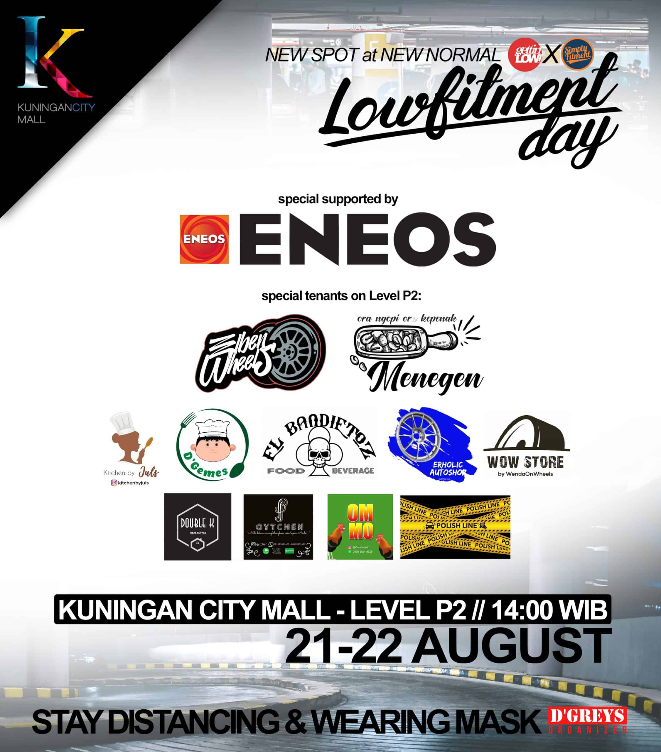 Lowfitment Day official tenants